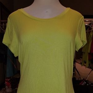Size XL Jaclyn Smith Collection Neon Green Blouse
